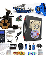 Complete Tattoo Kit 3 Machines G3Z14R7R1 Liner & Shader Hurricane Dual LED Digital Power Supply