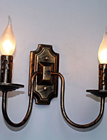 Rétro simple lampe murale couloir couloir double tête lampe chambre salon lampe murale éclairage