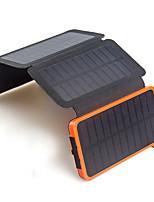 Painel solar portátil dobrável 6w carregador solar da bateria 10000mah para o carregador universal móvel