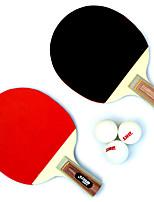 2 Звезды Ping Pang/Настольный теннис Ракетки Ping Pang Дерево Короткая рукоятка Прыщи В помещении Выступление Практика Активный отдых-#