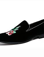 גברים-נעליים ללא שרוכים-סוויד-מוקסין--חתונה שטח משרד ועבודה יומיומי מסיבה וערב-עקב שטוח