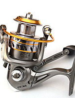 Molinetes de Pesca Molinetes Rotativos 5.14:1 6 Rolamentos Destro Pesca Geral-GWMA2000