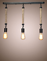 Hemp Rope Lights Creative Restaurant Loft Retro Cafe Bar Lamp