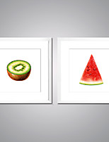 Canvas Prints Fruits Painting Picture Print on Canvas Food Canvas Art with White Frame  for Wall Decoration