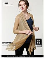 Damen Standard Strickjacke-Lässig/Alltäglich Einfach Solide V-Ausschnitt ¾-Arm Nylon Frühling Sommer Dünn Mittel Mikro-elastisch