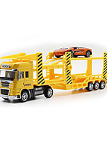 Construction Vehicle Pull Back Vehicles 1:50 Metal ABS Red Blue Yellow