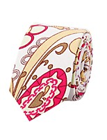 Cashew Nuts Printed Cotton And Linen Fashion Trendy Europe And the United States Small Tie