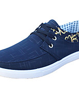 Men's Sneakers Spring Summer Comfort Canvas Casual Flat Heel Black Gray Blue