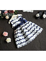 Girl's Casual/Daily Solid Striped Dress Summer Half Sleeve