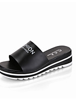 Women's Slippers & Flip-Flops Summer Mary Jane Leatherette Outdoor Casual Flat Heel Walking