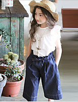 Girls' Casual/Daily Solid Pants-Cotton Summer Spring