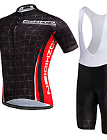 AOZHIDIAN Summer Cycling Jersey Short Sleeves BIB Shorts Ropa Ciclismo Cycling Clothing Suits #AZD151