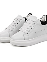 Women's Sneakers Spring Summer Fall Winter Comfort PU Athletic Casual Flat Heel Lace-up