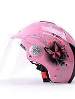 YEMA 310 Motorcycle Helmet Summer ABS Anti-UV Half Helmet For 54-61cm with Transparent Lens