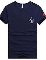 Tee-shirt Homme,Imprimé Grandes Tailles simple Eté Manches Courtes Col Arrondi Coton Fin