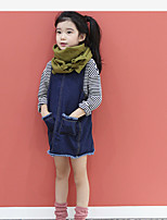Girl's Casual/Daily Solid Dress,Cotton Fall Long Sleeve