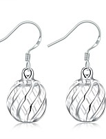 Concise Silver Plated Hollow Sweet Pineapple Drop Earrings for Party Women Jewelry Accessiories