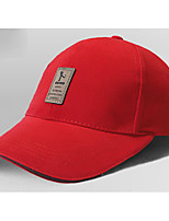 Men's Cotton Blend Baseball Cap,Casual Solid Spring
