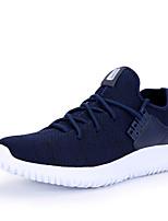 Черный Серый Морской синий-Для мужчин-Для прогулок Повседневный Для занятий спортом-Ткань-На плоской подошве-Удобная обувь Пара обуви-Кеды