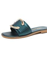 Women's Slippers & Flip-Flops Summer Mary Jane Leatherette Casual Flat Heel Metallic toe Walking