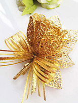 Wedding Flowers Free-form Roses Boutonnieres Wedding Party/ Evening Gold Satin
