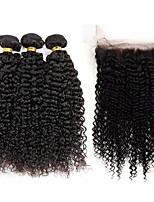 Человека ткет Волосы Бразильские волосы Kinky Curly 12 месяцев 4 предмета волосы ткет