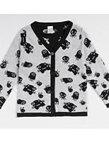Casual/Daily Print Sweater & Cardigan,Cotton Spring Fall Long Sleeve Regular