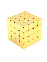 NEWSPOON Magnet Toys 125pcs 5mm Magnet Toys Neodymium Magnet Executive Toys Puzzle Cube DIY Toys Golden Magnetics Cube Education Toys For Gift