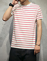 новые полосатые футболки мужские модели японский хлопок 94% спандекс 6%