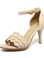 Sandals Spring Summer Fall Club Shoes Fleece Office & Career Party & Evening Dress Stiletto Heel Buckle Black Pink Beige