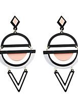 Boucles d'oreille goutte Acrylique Alliage Acrylique Mode Personnalisé Forme Ronde Noir Jaune Vert Rose + Blanc BijouxMariage Soirée