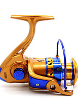 Molinetes de Pesca Molinetes Rotativos 5.2:1 12 Rolamentos Destro Pesca Geral-LH5000