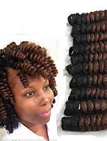 Вязаные Надувной Curl Спиральные плетенки Наращивание волос Kanekalon косы волос
