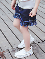 Girls' Casual/Daily Beach Holiday Solid Shorts-Cotton Summer Denim Jeans Shorts