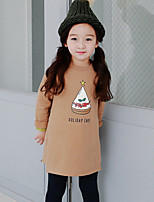 Girl's Solid Dress,Others Summer Spring Long Sleeve