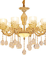 European Style Atmosphere Zinc Alloy Crystal Living Room Bedroom Home Chandelier B