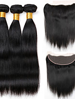 Natural Color Hair Weaves Peruvian Texture Straight 12 Months 4 Pieces hair weaves