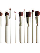 New 10 Silver Face Eye Lip Makeup Brush Sets Shading Brush Brush Highlights Beginners Essential Professional Makeup Brush Bag Mail