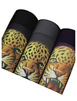 3Pcs/Lot Men's Fashion Sexy Printed Animal Boxers Underwear Cotton Modal Panties