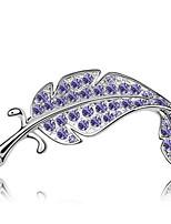 Dámské Brože Šperky Jedinečný design Přizpůsobeno Euramerican Drahokam Slitina Šperky Tmavomodrá Fialová Fuchsiová Zelená Modrá Šperky Pro