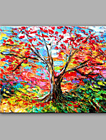 Hand-Painted Abstract Love Tree Modern One Panel Canvas Oil Painting For Home Decoration