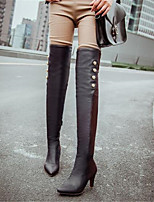 Women's Boots Winter Mary Jane PU Casual Stiletto Heel