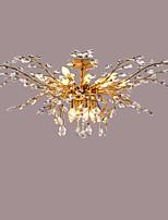 Montagem do Fluxo ,  Contemprâneo Tradicional/Clássico Rústico/Campestre Rústico Latão Antiquado Característica for Cristal LED MetalSala