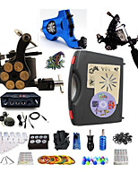Complete Tattoo Kit 3 Machines G3Z14R1A2 Liner & Shader Dual LED Power Supply
