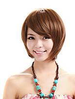 Capless curtas peruca bobagem reta kinky fibra sintética traje peruca partido peruca