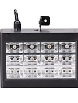 U'King 15W Mini DMX and Sound Activated 12RGB LEDs Stage Lighting Equipment LED Room Strobe For Disco DJ Party Music Show Stroboscope Projector