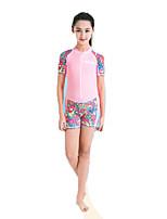 Детские Гидрокостюмы Защита от излучения Водолазный костюм Короткие рукава Гидрокостюмы-Плавание Дайвинг Серфинг Весна Лоза Мода