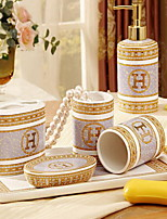Bathroom Accessory Set without Plate Ceramic /Contemporary