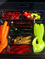 1 штук Мягкие приманки Случайный цвет 70 г Унция мм дюймовый,Пластик Обычная рыбалка