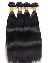Tissages de cheveux humains Cheveux Malaisiens Droit 12 mois 4 Pièces tissages de cheveux